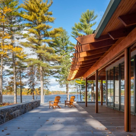 Sebago lake house porch