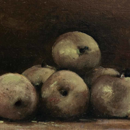 Apple Still Life, oil. 14x18, 2009
