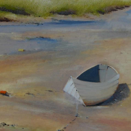 Low Tide White Dory, 24x30