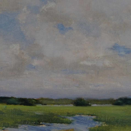 Marsh Clouds, 14x18