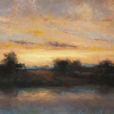 Marsh Sunset, 18x24, oil on linen