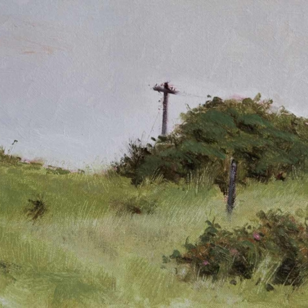 Old Beach Pole, oil, 8x10, 2009