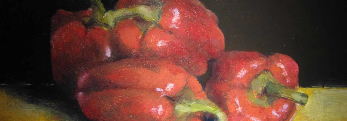 Red Peppers, oil, 9x12, 2011