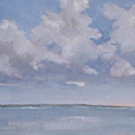 Summer Clouds, oil, 14x18, 2011